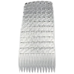Hair Combs Plastic Hair Slides 12 Pack Of Budget Black Brown Or Clear 7Cm Combs Clear by Cherry-on-Top