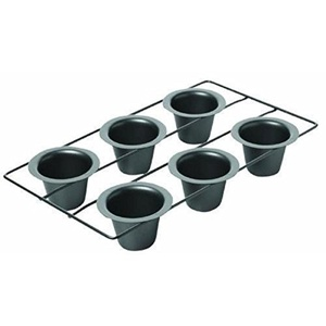 Chicago Metallic Non Stick 6-Cup Popover Pan New
