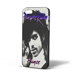 Legendary Artist Purple Rain Cover Album Black White for Iphone Case (iPhone 5/5s Black)