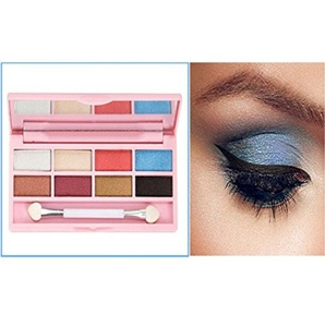 Eyeshadow ,Vovotrade 8 Colors Pro Eyeshadow Shimmer Mate Palette Cosmetic Brush Mirror Makeup Set (B)