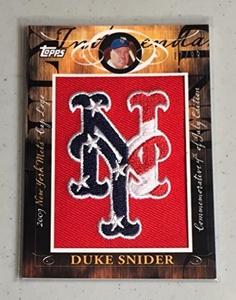 Baseball MLB 2010 Topps Manufactured Hat Logo Patch #MHR-403 Duke Snider NM Near Mint 17/99