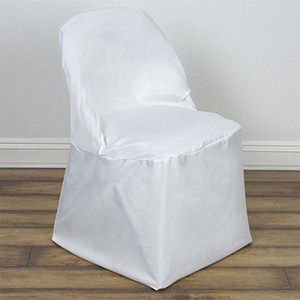 100 Ivory Polyester Folding Chair Covers