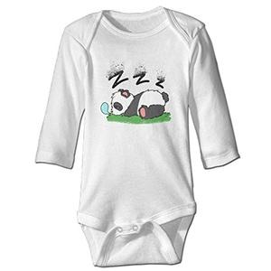 Sleeping Panda Baby Long Sleeve Suits White 18 Months