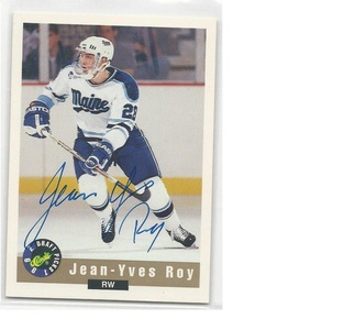 Hockey NHL 1992 Limited Classic # Jean Yves Roy # EX/NM Auto