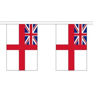 White Ensign Giant Bunting (30 Large Flags) 18.25M Royal Navy Naval 60Ft by White Ensign