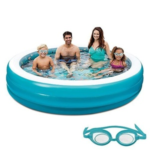 Blue Wave 3D Inflatable Round Family Pool, 7.5' by Blue Wave