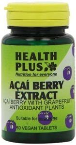 Health Plus Acai Berry Extract Weight Management And Antioxidant Plant Supplement - 60 Tablets by Health Plus
