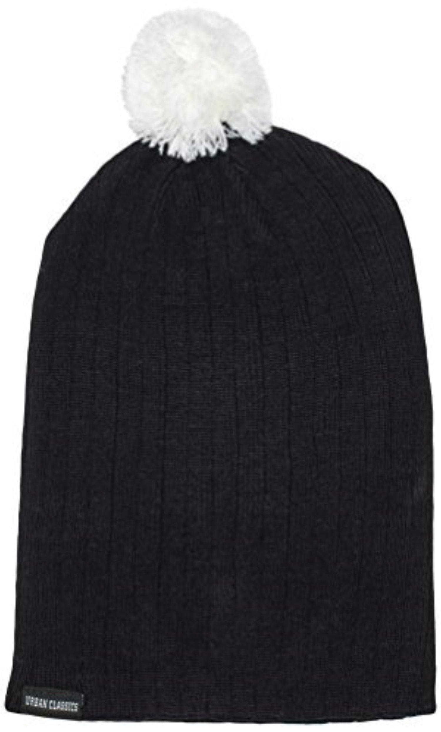 Urban Classic Men's Wintermtze Contrast Bobble Beanie - Hat - White (wei), (Manufacturer size: one size) by Urban Classic