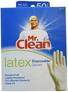 MR. CLEAN LATEX Disposable Cleaning Gloves for ULTIMATE DEXTERITY (50 Count) by Mr. Clean