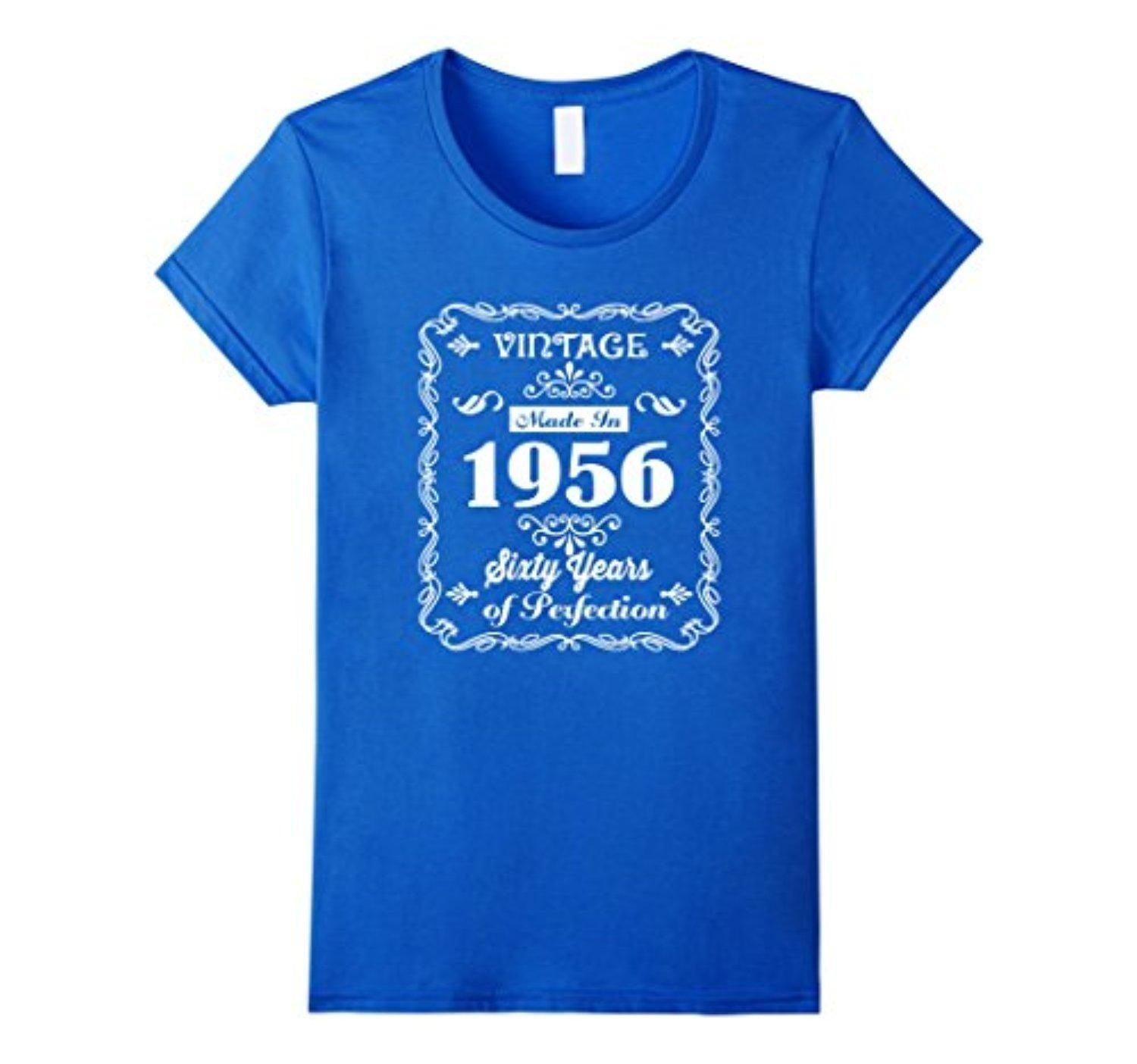 Online Store Womens Vintage 1956 Age 60 Years Perfect 60th Birthday Gift T Shirt Large Royal Blue