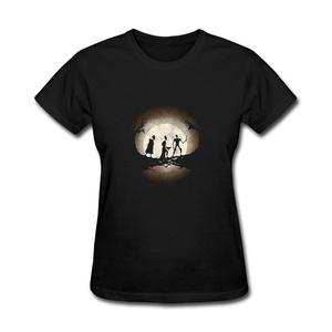 ZhiBo Women's Full Moon Dark Night 3 Brothers Tale Customs T-shirt Black X-Large Woman