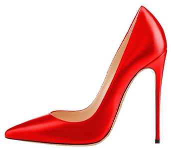 MONICOCO Women's Stiletto Heel Plus Size Shoes Pointed Toe Pump PU Red 13 US