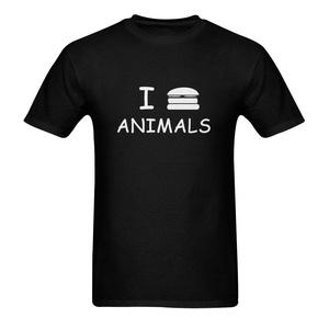 I Hamburger Animals Funny Men's Short Sleeve T-Shirt Tee