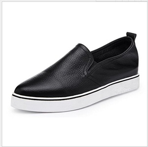 Pointy leather Korean shoes/Flat casual shoes-A Foot length=23.3CM(9.2Inch)