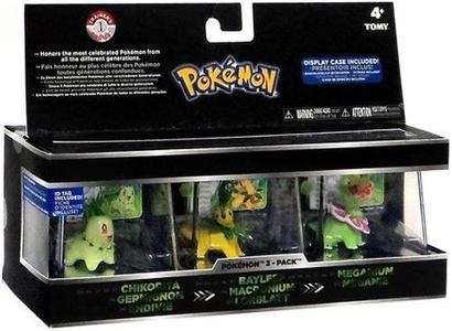Pokemon Trainer's Choice Mini Figure 3-Pack Johto Region [Chikorita, Bayleef & Meganium] by Pokemon Trainer's Choice