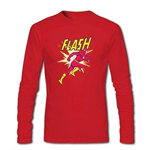 the Flash Running for Men Printed Long Sleeve Cotton T-shirt