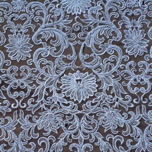 Super heavy beaded off white wedding dress lace fabric 51'' width by yard