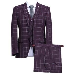 GEORGE BRIDE Plaid Dinner Suit Mens Tuxedos Formal Wear,M