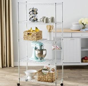 Metal Shelf Unit 5-Shelves Storage, Shelving Units And Storage, Home Decor