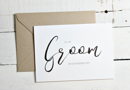To my Groom on our wedding day card, Husband Wedding Card, Groom Wedding Day Card, Card for Groom
