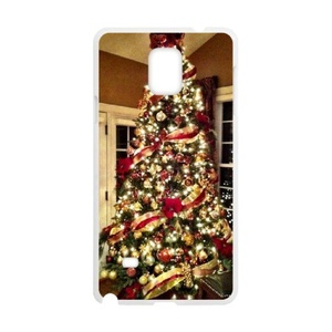 Samsung Galaxy note4 Case, LEDGOD Fashionable Gift DIY Christmas Tree White Cover Phone Case for Samsung Galaxy note4 Shell Phone.