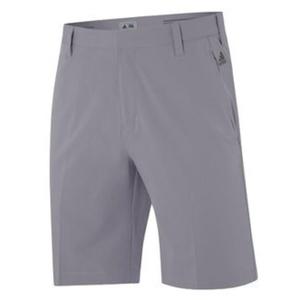 Adidas Golf 2015 Mens Puremotion Stretch 3-Stripes Shorts - Mid Grey - 30 W by 3 Stripes Shorts Mid Grey