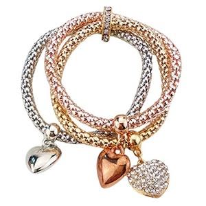 New Women's Exquisite Design Vintage Fashion style Alloy heart bracelet