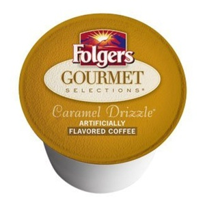 Folgers Gourmet Selections K-Cup Caramel Drizzle 18 Pack in Factory Box for Keurig by Caramel Drizzle