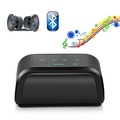 Bluetooth Portable Speaker Wireless Bass Black Rechargeable for PC Tablet Phone