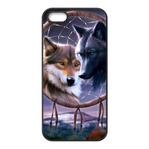 super shining day Discount Wolf Dream Catcher TPU Material Snap on Case Cover for iPhone 5/5S