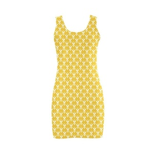 Abbie Miller Unique Patterns Women's Polyester Vest Dress Yellow