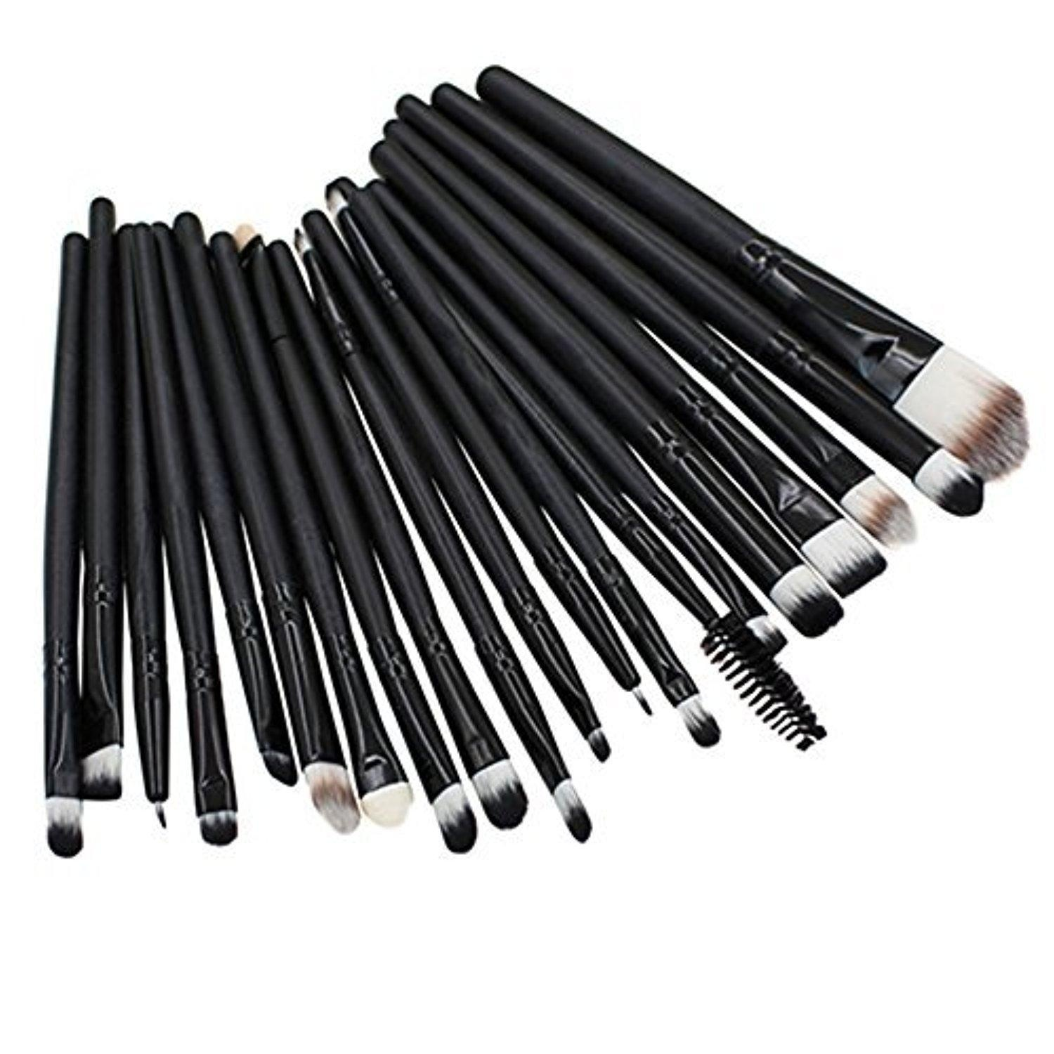 20pcs Pro Makeup Brushes Set Powder Foundation Eyeshadow Eyeliner Lip Brushes by Broadfashion