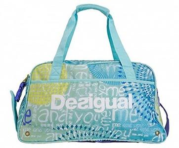 Desigual Bols 60X5SA3 Big Gym Bag L for Women, Pool Blue, 0.1x 0.1x 0.1cm 1Litre by Desigual