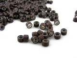 Pack of 1000 Silicone Micro Rings - 5mm / Brown - For I-Tip & Feather Hair Extensions by CyberloxShop