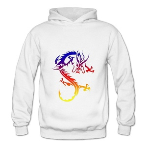 Lennakay Work Adult's Chinese Dragon Hoodie With No Pocket White For Woman SizeXL
