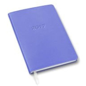 2017 Gallery Leather Periwinkle Weekly Desk Planner (Size 8