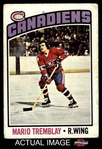 1976 O-Pee-Chee NHL # 97 Mario Tremblay Montreal Canadiens (Hockey Card) Dean's Cards 2 - GOOD