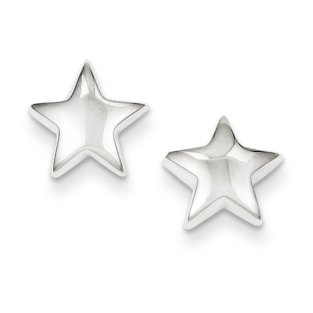 .925 Sterling Silver 12 MM Star Post Stud Earrings
