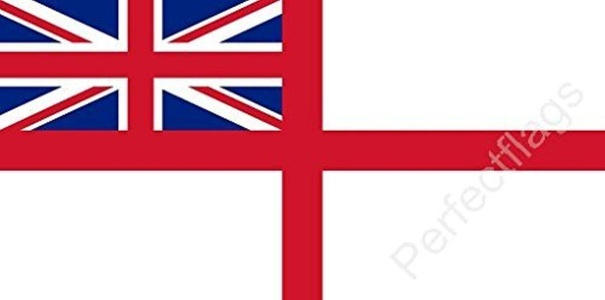 White Ensign Flag 5ft x 3ft Large - 100% Polyester - Metal Eyelets - Double Stitched by Perfectflags