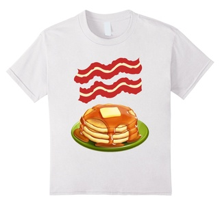 Kids Bacon pancakes t-shirt - Making Bacon shirt 8 White
