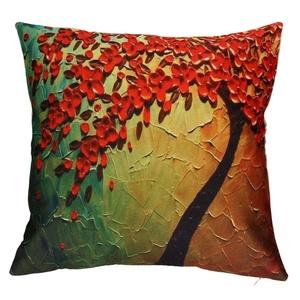Iuhan® Fashion Flower Trees Pillow Case Sofa Waist Throw Cushion Cover Home Decor (F)