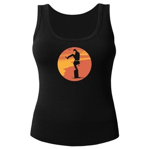 Silly Karate for Women Printed Tanks Tops Sleeveless T-shirt