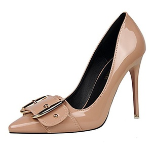 No.66 Town Women's Buckle Stiletto High Heel Pointed-toe Pumps Shoes Size 7 Khaki