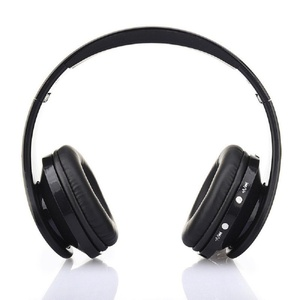 Foldable Wireless Bluetooth Stereo Headset Handsfree Headphones Mic (Black)
