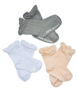 Petescilla Baby Girl Mesh Ruffle Dress Socks Non-Skid 3-pack