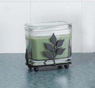 Leaf Rectangular Candle Jar Holder