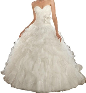 BanZhang Women's Sweetheart Ball Gown Wedding Dresses For Bride Plus Size BZ342 Ivory 10