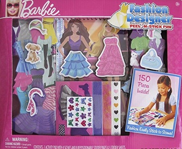BARBIE Fashion Designer PEEL N STICK FUN w 150 Pieces SET (2009)