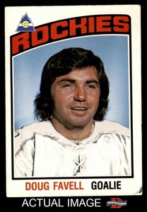 1976 O-Pee-Chee NHL # 292 Doug Favell Rockies-Hockey (Hockey Card) Dean's Cards 4 - VG/EX