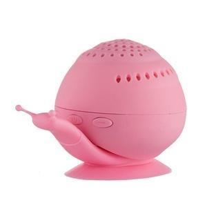 Mini Portable Bluetooth Speaker, DOITOP Creative Wireless Snail Bluetooth Speaker with Cell Phone Holder Bluetooth Speaker Sound Box(Pink)